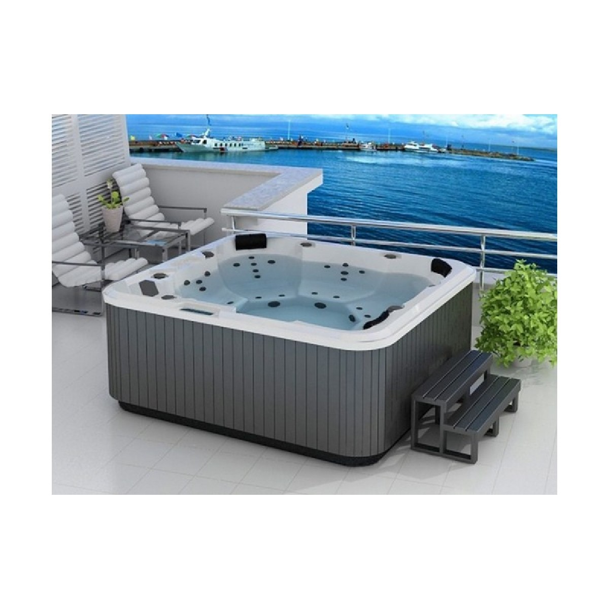 6 Seater Hot Tub - Home and Garden Hot Tub - Atlantic Spa