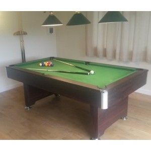 7ft cobra premier slate bed pool table, dark effect, green